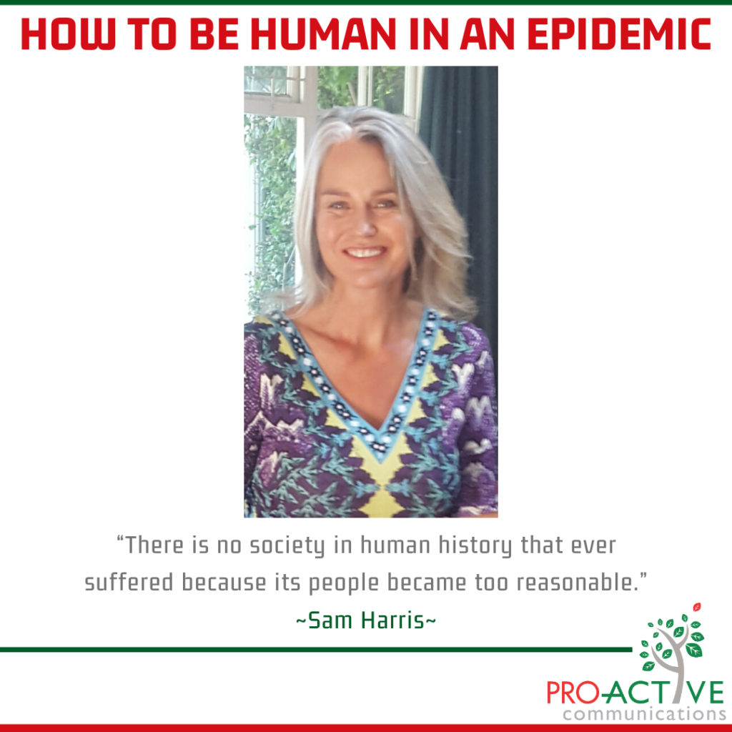 How to be human in an epidemic - Pro-Active Communications